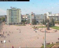 Live camera Rivne, Independence Square / Rovno, ploshad Nezavisimosti Rivne, Ukraine.