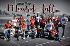 2018 Arbor View, Moms of Fall Photoshoot by RedGridiron Designs. Team Mom Football, Football Ads, Football Banquet, Fall Football, Football Cheerleaders, Football Things, Baseball, Soccer Senior Pictures, Football Senior Pictures