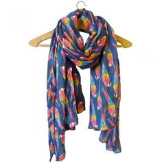 Fly Me To Havana... Parrot Print Large Scarf/Wrap