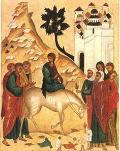 Life-giving Turmoil - A Sermon for the Sunday of the Passion: Palm Sunday, Matthew Religious Icons, Religious Art, Monastery Icons, Gospel Reading, Sunday Sermons, Palm Sunday, Holy Week, Catholic Art, Art And Architecture