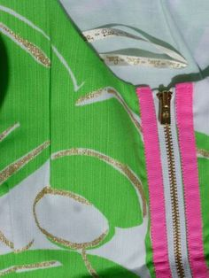 Consider adding a novelty zipper, such as on this Lilly Pulitzer dress.