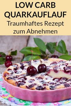 Quark casserole with cherries - low carb Quarkauflauf mit Kirschen – Low Carb Rezept This quark casserole with cherries is healthy, low carb and low in calories. Here you will find the sugar-free recipe for weight. Sugar Free Recipes, Low Carb Recipes, Diet Recipes, Vegetarian Recipes, Dessert Recipes, Desserts, Crock Pot Recipes, Low Glycemic Diet, Calories