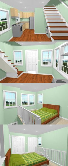 12x16 Tiny House -- PDF Floor Plan -- 367 sq ft -- Model 6 3
