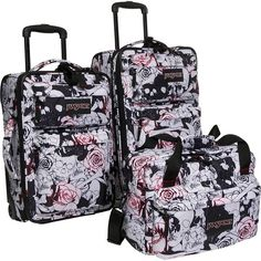 A blast from the past! Something I did back in 2008. Love to see that it's still out there! Skulls 'n Roses Luggage from JanSport, Fall 2008