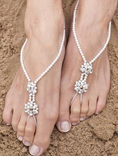 Arianna Barefoot Sandals - The Wedding Boutique Barefoot Sandals Wedding, Bridal Sandals, Bridal Shoes, Wedding Shoes, Bridal Jewelry, Beach Sandals, Prom Shoes, Dress Shoes, Foot Bracelet