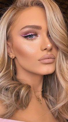 Brown Makeup, Beautiful Women, Hoop Earrings, Blondes, Hair Styles, Beauty, Jewelry, Fun, Fashion