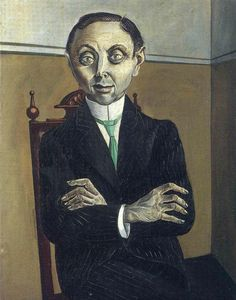 Otto Dix, Портрет Пола Ф. Шмидт, 1921.