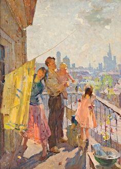 Королев Михаил Иванович (1923 - 2006) «Утро в Москве»