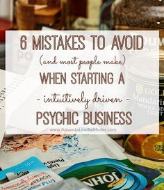 We all make business mistakes - especially in businesses driven from the heart. Take these quotes from me though, intuition based consulting ideas are not all created equal! Psychic development (and business development) can be fun, monetarily rewarding and it doesn't have to drive you broke or bonkers!