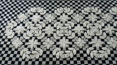 Bordado em tecido xadrez - Amostra (Detalhes sobre o bordado... Visitar)
