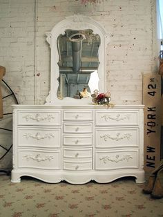 Painted Cottage Shabby White Romance Dresser by paintedcottages, $1495.00