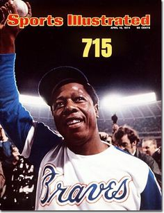 April 15, 1974 - On April 8, 1974, Henry Aaron of the Atlanta Braves hit his 715h career home run, eclipsing the mark of 714 set by Babe Ruth.
