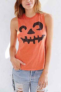 Halloween Pumpkin Muscle Tank