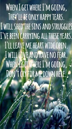 """""""When I Get Where I'm Going"""" - Brad Paisley with Dolly Parton lyrics....music memorial for Annemie ❤"""