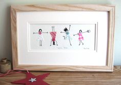 personalised hand finished art print for a young girl by penny lindop designs | notonthehighstreet.com