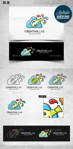 Cloud Lab - Logo Template - Vector Abstract