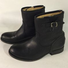 Frey Black Leather Ankle Boots Back Zip Black Leather Frye Ankle Boots. back Zip. In great condition Frye Shoes Ankle Boots & Booties