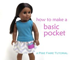 How to Add a Basic Pocket | Pixie Faire
