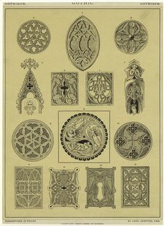 Gothic ornamental design.