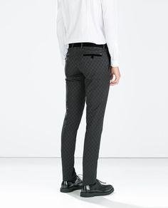 Image 3 of BLACK JACQUARD TROUSERS from Zara