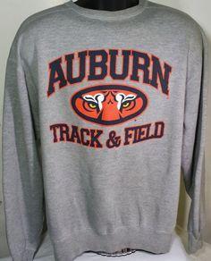 Auburn Tigers Track And Field Mens Size Large Russell Athletics Sweatshirt #RussellAthletic #SweatshirtCrew #AuburnTigers