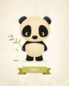 This little panda nursery print would look adorable in any kids room or for any grown up who cant resist a cute panda! Poor Pip always looks