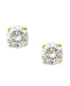 Round-Cut Diamond Earrings in 10k Gold (1/6 ct. t.w.)