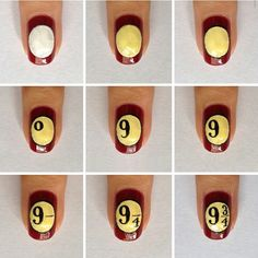 Harry Potter Nails Art While some of us get depressed struggling to paint our nails a solid color, others create masterpieces fit for art galleries. Just have a look at these intricate Harry Potter-inspired nail art designs. What kind of sorcery is that? Harry Potter Nail Art, Harry Potter Nails Designs, Harry Potter Makeup, Images Harry Potter, Harry Potter Fandom, Harry Potter Phone Case, Maquillaje Harry Potter, Diy Ongles, Harry Potter Bricolage