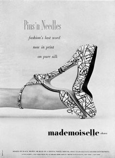 """""""1951 Mademoiselle Shoes."""" This is an example of shoes that were worn in 1951. Mademoiselle [Mademoiselle shoes made in 1951]. (1951). Retrieved October 11, 2017, from http://www.thehistorialist.com/2012/04/serendipity-mignani-porto-s-giorgio.html?m=1"""