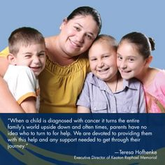 Keaton Raphael Memorial is devoted to providing hope, strength, and healing to children with cancer.