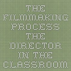 The Filmmaking Process - The Director In The Classroom