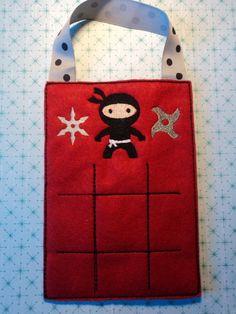 Felt Ninja Tic Tac Toe  Ninja Stars Felt by MacAndRoniDesigns