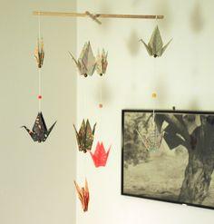 Mobile Origami Grues