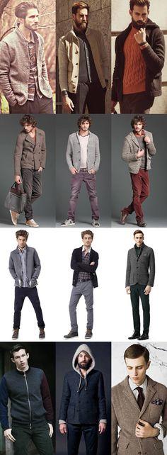 Men's Knitted Jackets Lookbook