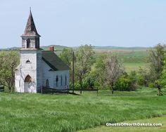 Church, Leith, North Dakota, USA