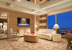 Parlor suite at the Wynn... best hotel room ever!
