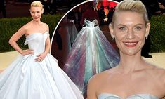 Claire Danes shines at Met Gala in baby blue light-up ball gown