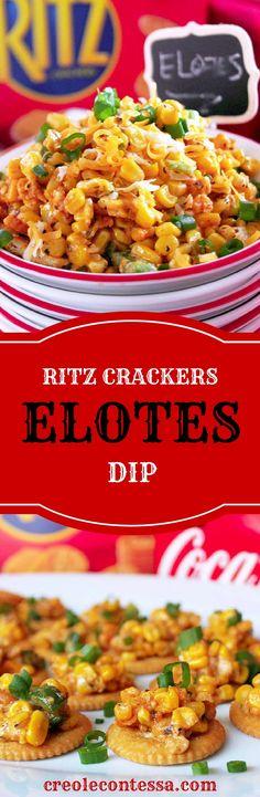Ritz Crackers Elotes Dip -Creole Contessa   #HomeBowlHeroContest