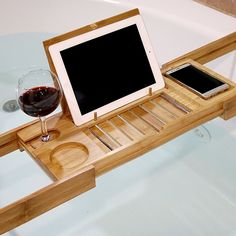 Bamboo Bath Expandable Shower Tub Tray for $28.99 in Kitchenware