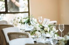 All white Table Arrangements- Maxit Flower Design- Houston Weddings LOCATION: TINY BOXWOODS / PHOTOGRAPHED BY: SMITH HOUSE PHOTOGRAPHY / EVENT PLANNER: TINY BOXWOODS