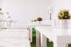 Soft seating areas within the marquee space of Seventa Events summer 'pop-up'