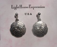 Sand Dollar Earrings by LightHouseExpression on Etsy, $15.00