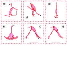 Affiche voor pink Flamingo Flamingo yogi asana door AmelieLegault