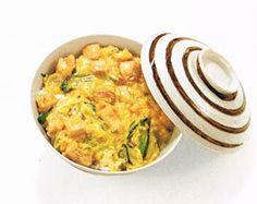 Oyako-donburi chicken and egg over rice. Good Japanese food!