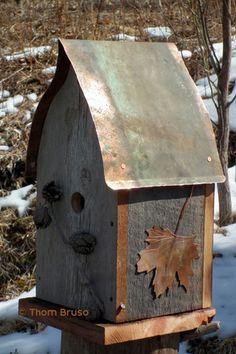 Curved Topped House - THOM BRUSO'S ARTISTIC BIRDHOUSES