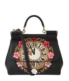View the Medium Sicily Clock Top Handle Bag