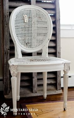 cute cane chairs that need some TLC