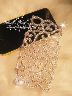 Bling crystal  hallow Case  for iPhone 4 4G 4S by JYJINTERNATIONAL, $12.99