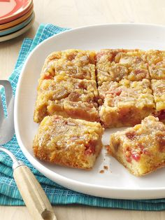 Foodista | Easter Brunch Recipe: Easy Rhubarb Upside-Down Cake