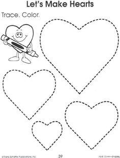 Drawing Hearts Worksheet